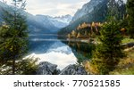 beautiful view on dachstein... | Shutterstock . vector #770521585
