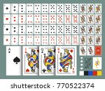 playing cards for poker and... | Shutterstock .eps vector #770522374