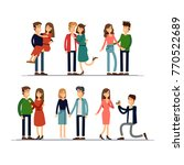 set couples in love. man and... | Shutterstock .eps vector #770522689