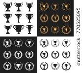 set of winner trophy cup... | Shutterstock .eps vector #770525095