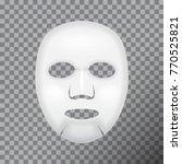 facial mask cosmetics. vector... | Shutterstock .eps vector #770525821
