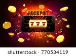 jackpot lucky wins golden slot... | Shutterstock .eps vector #770534119