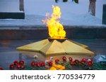 eternal flame burning in memory ... | Shutterstock . vector #770534779
