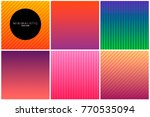 abstract line background in... | Shutterstock .eps vector #770535094
