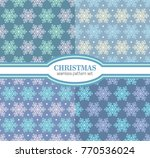 seamless snowflakes background... | Shutterstock .eps vector #770536024