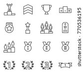 ranking and achievement icons... | Shutterstock .eps vector #770536195