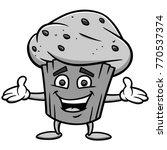 blueberry muffin illustration   ... | Shutterstock .eps vector #770537374