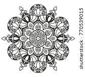 black and white mandala style... | Shutterstock .eps vector #770539015