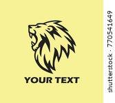 roaring lion logo design | Shutterstock .eps vector #770541649