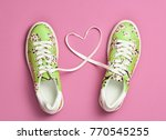 fashion trendy trainers with... | Shutterstock . vector #770545255