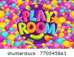 playroom cartoon kids vector... | Shutterstock .eps vector #770545861