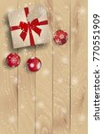 top view on christmas present...   Shutterstock .eps vector #770551909