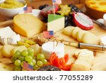 closeup of a fresh breakfast with lots of cheese - stock photo