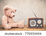 retro radio receiver and old... | Shutterstock . vector #770553454