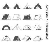 hiking and camping tent vector...   Shutterstock .eps vector #770554699