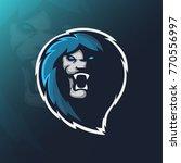 lion mascot logo. wildcat head. ... | Shutterstock .eps vector #770556997