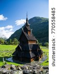Small photo of Borgund Stave Church is a stave church located in the Sogn og Fjordane county, Norway.