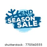 end of season sale up to... | Shutterstock .eps vector #770560555