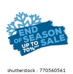 end of season sale up to... | Shutterstock .eps vector #770560561