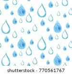 raindrop watercolor pattern | Shutterstock . vector #770561767