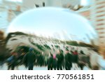 commuters crossing at rush hour ... | Shutterstock . vector #770561851
