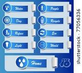 eco stickers | Shutterstock .eps vector #77056336