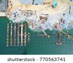construction for marine works... | Shutterstock . vector #770563741