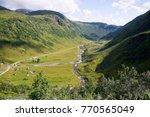 through the vikafjell a pass...   Shutterstock . vector #770565049
