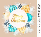 merry christmas greeting... | Shutterstock .eps vector #770565865