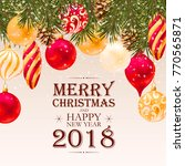 merry christmas greeting... | Shutterstock .eps vector #770565871
