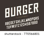 burger vector retro regular... | Shutterstock .eps vector #770566801