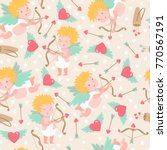 vector seamless pattern with... | Shutterstock .eps vector #770567191