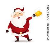 cute  funny  happy santa claus...   Shutterstock .eps vector #770567269