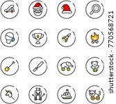 line vector icon set   trap... | Shutterstock .eps vector #770568721