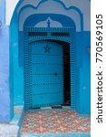 traditional moroccan courtyard... | Shutterstock . vector #770569105