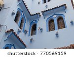 traditional moroccan courtyard... | Shutterstock . vector #770569159
