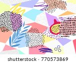 creative geometric colorful... | Shutterstock .eps vector #770573869