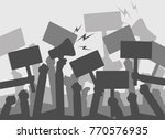 silhouette crowd of people... | Shutterstock . vector #770576935