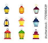 set of bright old fashioned... | Shutterstock .eps vector #770580439