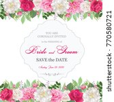 wedding invitation cards with... | Shutterstock .eps vector #770580721
