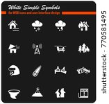 natural disasters web icons for ... | Shutterstock .eps vector #770581495