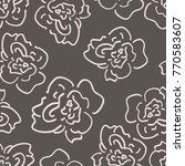 graphic hand drawn rose flower... | Shutterstock .eps vector #770583607