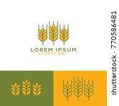 grain logo  grain nature logo... | Shutterstock .eps vector #770586481