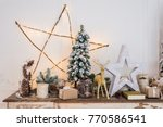 christmas decoration on ancient ... | Shutterstock . vector #770586541