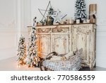 christmas decoration on ancient ... | Shutterstock . vector #770586559