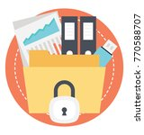 data security and privacy...   Shutterstock .eps vector #770588707