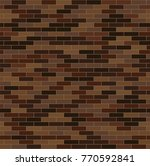 decorative red and brown bricks ... | Shutterstock .eps vector #770592841