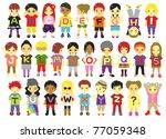 alphabet kids | Shutterstock . vector #77059348