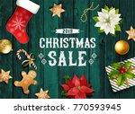 christmas sale design... | Shutterstock .eps vector #770593945