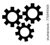 gears icon. simple illustration ...